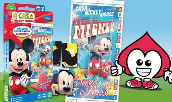 Jogo Monta Pôster do Mickey Mouse